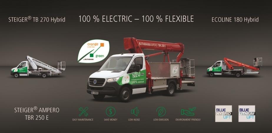 Ruthmann hybrid and electric innovations at the bauma